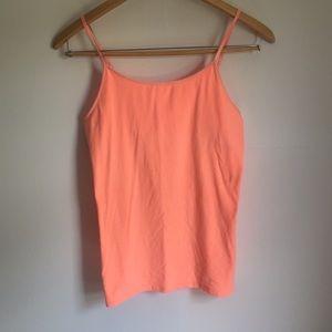 Tops - Neon peach tank top